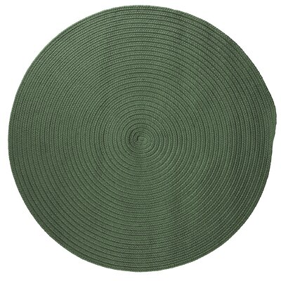 Mcintyre Myrtle Green Indoor/Outdoor Area Rug Rug Size: Round 4
