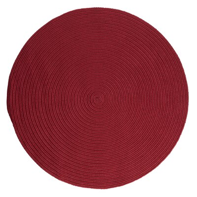 Rainsburg Sangria Indoor/Outdoor Rug Rug Size: Round 6
