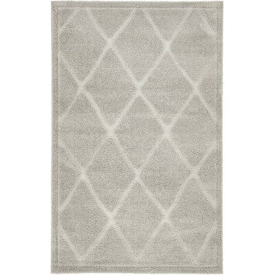 Madelyn Gray Area Rug Rug Size: 9 x 12