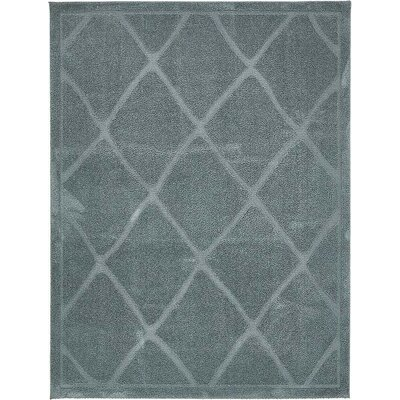 Catherine Light Blue Area Rug Rug Size: 9 x 12