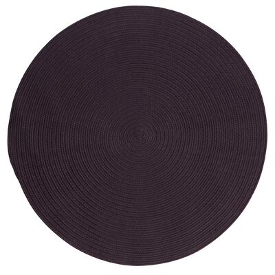 Rainsburg Eggplant Indoor/Outdoor Area Rug Rug Size: Round 4