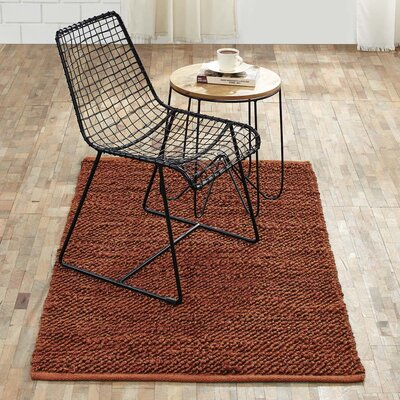 Baxter Hand-Woven Amber Area Rug Rug Size: 3 x 5