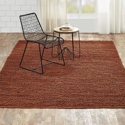 Baxter Hand-Woven Amber Area Rug Rug Size: 5 x 8
