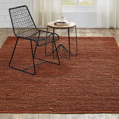 Baxter Hand-Woven Amber Area Rug Rug Size: 6 x 9
