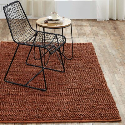 Baxter Hand-Woven Amber Area Rug Rug Size: 4 x 6