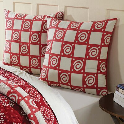 Philipsburg Euro Sham Color: Crimson