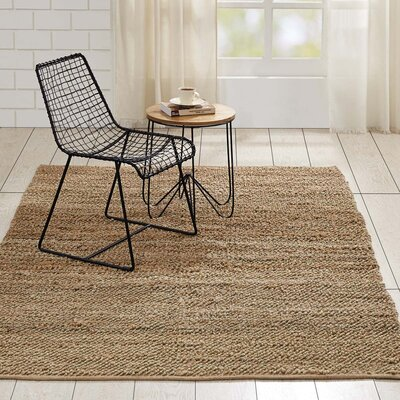 Baxter Hand-Woven Natural Area Rug Rug Size: 5 x 8