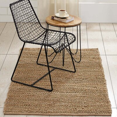 Baxter Hand-Woven Natural Area Rug Rug Size: 3 x 5