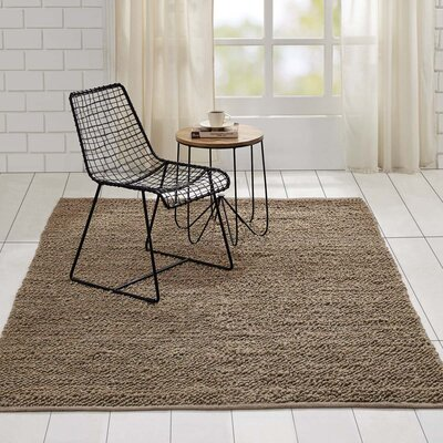 Baxter Hand-Woven Silver Area Rug Rug Size: 5 x 8