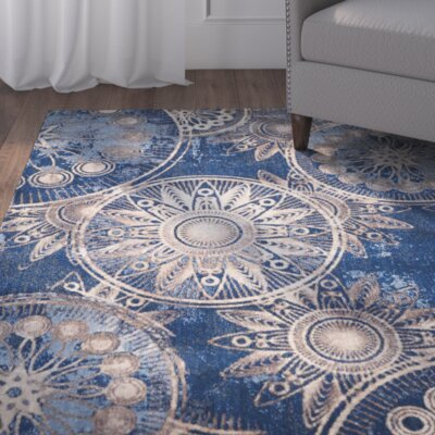 Myron Denim Area Rug