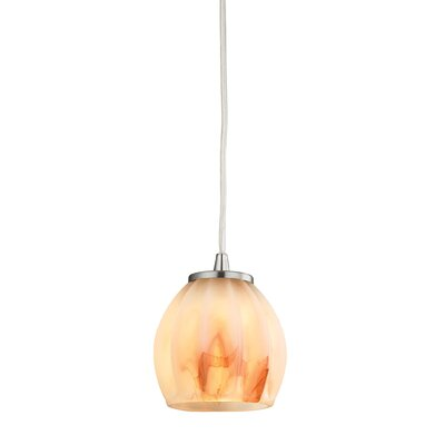 Cantrell 1-Light Mini Pendant Shade Color: Frosted