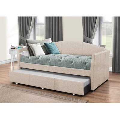 Alvina Upholstered Daybed with Trundle Color: Fog ANDO5986 34505177