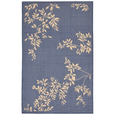 Aldreda Blue Indoor/Outdoor Area Rug Rug Size: 111 x 211