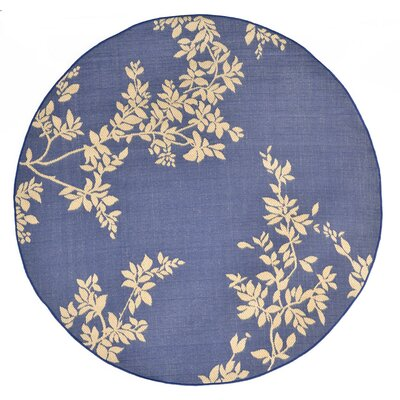 Aldreda Blue Indoor/Outdoor Area Rug Rug Size: Round 710