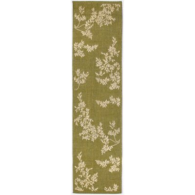 Aldreda Green Vine Indoor/Outdoor Rug Rug Size: Runner 111 x 76