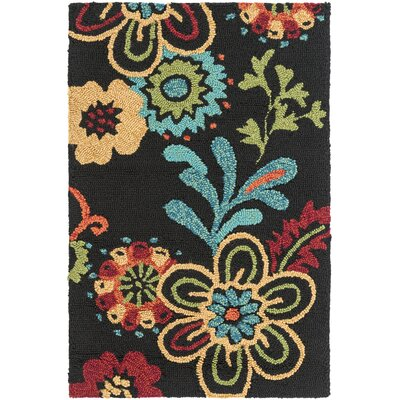 Leopold Black Indoor/Outdoor Rug Rug Size: 2 x 3