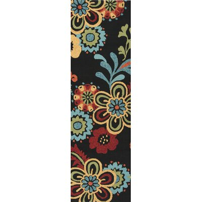 Leopold Black Indoor/Outdoor Rug Rug Size: Runner 26 x 8