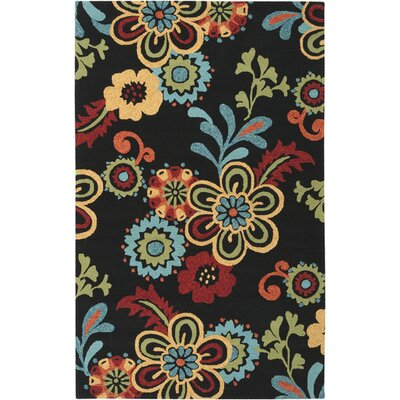 Leopold Black Indoor/Outdoor Rug Rug Size: Rectangle 5 x 76