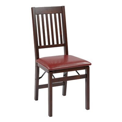 Welwyn Folding Chair Chair Upholstery: Red