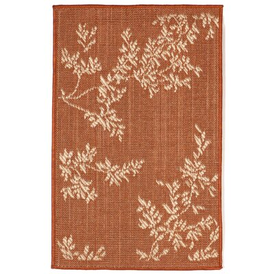 Aldreda Terracotta Vine Indoor/Outdoor Area Rug Rug Size: Rectangle 111 x 211
