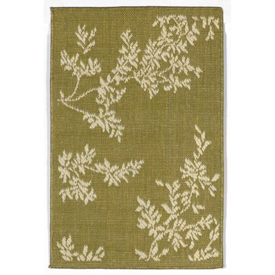 Aldreda Green Vine Indoor/Outdoor Rug Rug Size: 111 x 211