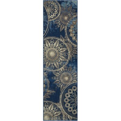 Myron Denim Area Rug Rug Size: Runner 2 x 59