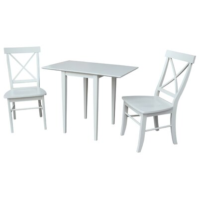 Brookfield 3 Piece Dining Set Finish: Linen White