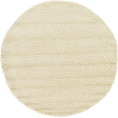 Lilah Basic Ivory Area Rug Rug Size: 6 x 6