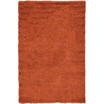 Lilah Basic Terracotta Area Rug Rug Size: 5 x 8