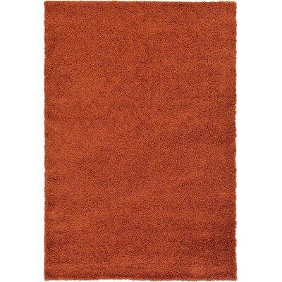 Lilah Basic Terracotta Area Rug Rug Size: 6 x 9