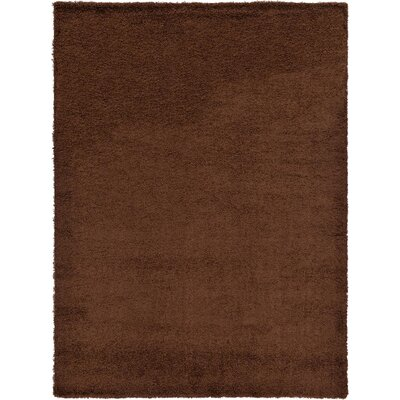 Chandler Solid Shag Brown Area Rug Rug Size: 8 x 11