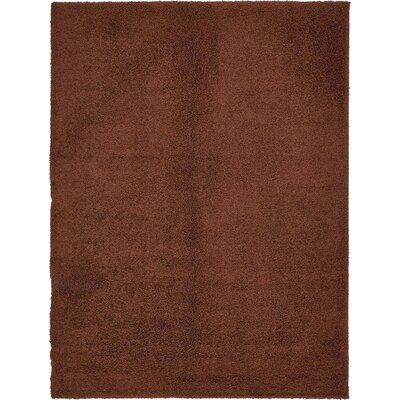 Chandler Solid Shag Brown Area Rug Rug Size: 7 x 10