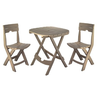 Quebec 3 Piece Bistro Set Color: Portobello