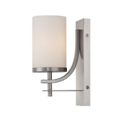 Agnes 1-Light Wall Sconce Finish: Satin Nickel