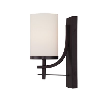Agnes 1-Light Wall Sconce Finish: English Bronze