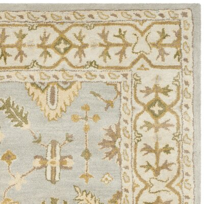 Albertine Hand-Tufted Wool Light Blue/Ivory Area Rug Rug Size: Runner 23 x 8