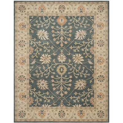 Albertine Blue / Light Gold Area Rug Rug Size: 5 x 8