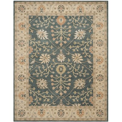 Darrell Blue / Light Gold Area Rug Rug Size: 8 x 10