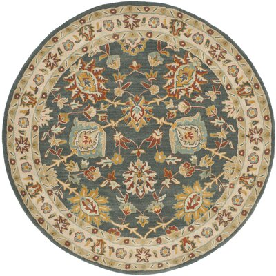 Albertine Dark Grey Area Rug Rug Size: Round 6