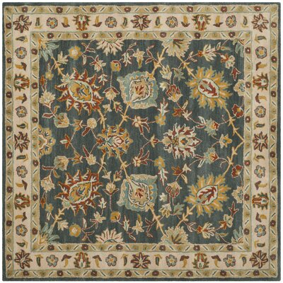 Albertine Dark Grey Area Rug Rug Size: Square 6