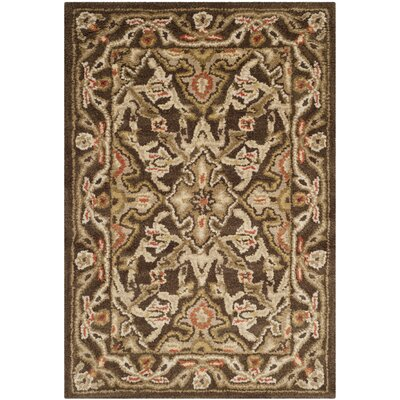Albertine Brown Area Rug Rug Size: 2 x 3