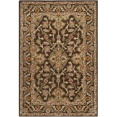 Albertine Brown Area Rug Rug Size: 4 x 6