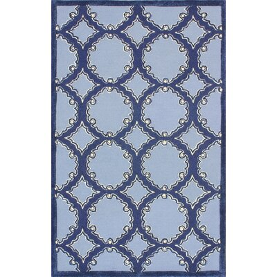 Ennis Hand-Tufted Navy/Blue Area Rug Rug Size: Square 5