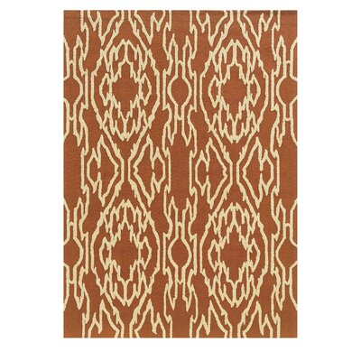 Savanah Hand-Tufted Brown/Ivory Outdoor Area Rug Rug Size: 5 x 7