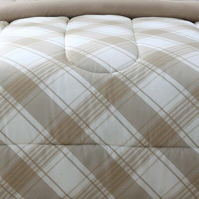 Merritt Reversible Comforter Set Size: Full/Queen, Color: Tan