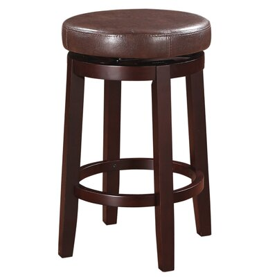 Colesberry 25.2 Swivel Bar Stool Upholstery: Brown