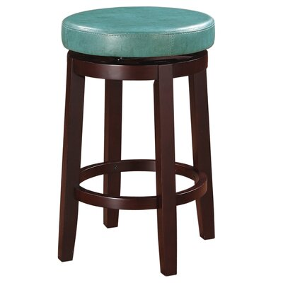 Colesberry 25.2 Swivel Bar Stool Upholstery: Teal