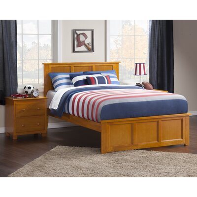 Marjorie Panel Bed Size: Full, Color: Antique Walnut