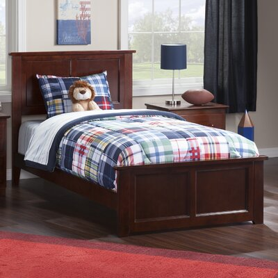 Alanna Traditional Panel Bed Finish: Walnut, Size: Twin