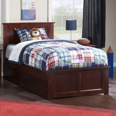 Alanna Traditional Platform Bed with Underbed Storage Finish: Walnut, Size: Twin XL